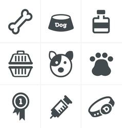 Dog icons set design vector