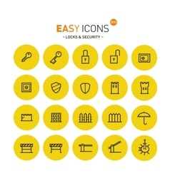 Easy icons 01 security vector