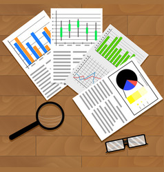 economic data graphics and charts vector image vector image