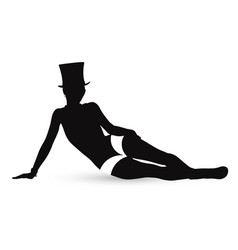 Erotic silhouette of the girl in style of cabaret vector