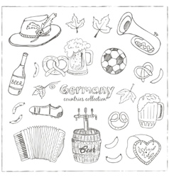 Hand drawn doodle Germany travel set vector image vector image