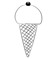 Ice cream01 vector image