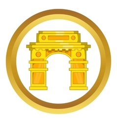 India gate new delhi icon vector