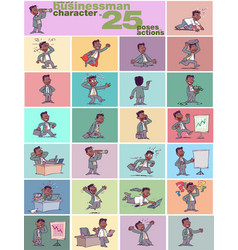 Large set of ethnic businessman character vector
