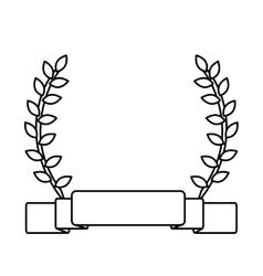 laurel wreath and banner vector image