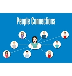 People icon Connections concept Flat vector image