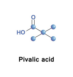 pivalic acid is a carboxylic acid vector image vector image