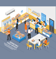 post office isometric vector image