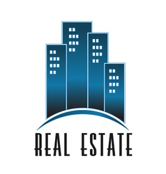 Real Estate group of towers logo vector image vector image