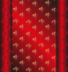 Seamless dark red wallpaper yellow floral vector