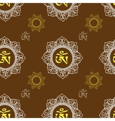 Seamless pattern with om ornament vector