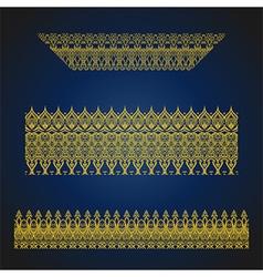 Set of seamless arabic ornate borders vector