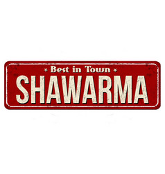 Shawarma vintage rusty metal sign vector