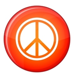 Sign hippie peace icon flat style vector