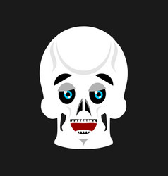 Skull happy emoji skeleton head marry emotion vector