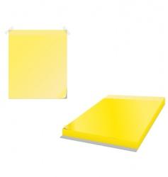 sticky note vector image