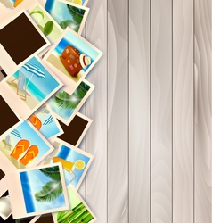 Travel Background With Photos From Holidays On A vector image vector image