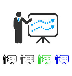Trends lecture flat icon vector