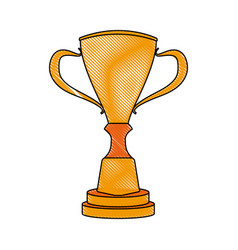 Trophy award prize champion competition icon vector
