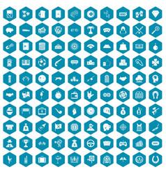 100 gambling icons sapphirine violet vector