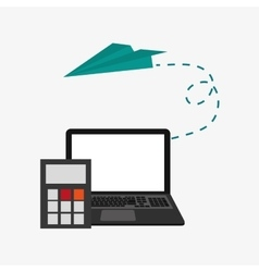 Laptop and telecommunication related icons vector