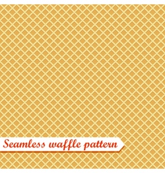 Waffles seamless pattern sweet vector