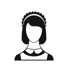 Maid icon in simple style vector