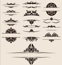 Vintage-element-and-border-set vector