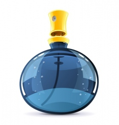 Perfume in glass bottle vector