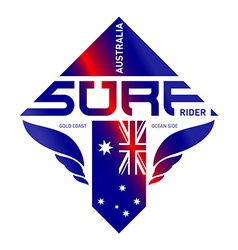 Design shield of Australia surf rider team Extreme vector image
