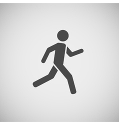 Running walking going man eps10 vector