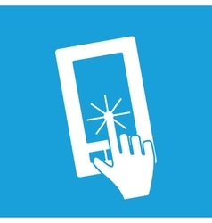 Touching screen icon vector