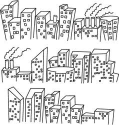 Building doodle vector