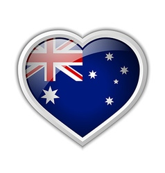 Australian heart icon vector