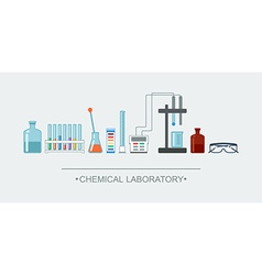 Banner chemical objects chemical laboratory vector