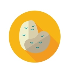 Potato flat icon with long shadow vector