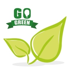 Go green and ecology theme vector