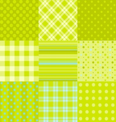 set of 9 simple seamless textures vector image