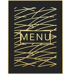 Menu design ready menu design monogram style vector