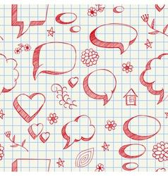 Speech bubbles skech seamless vector image
