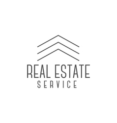 Real estate logo design realtor icon vector