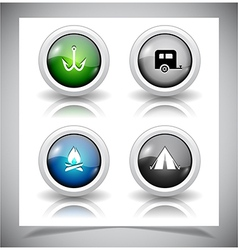 abstract glass buttons vector image vector image