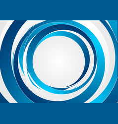 Abstract modern blue circles background vector