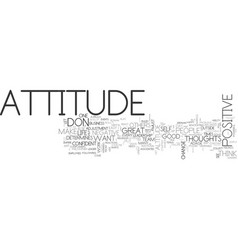 Attitude determines altitude text word cloud vector