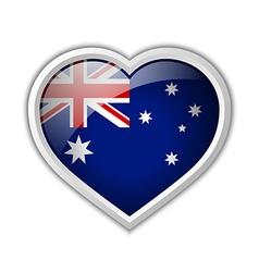 Australian heart icon vector image