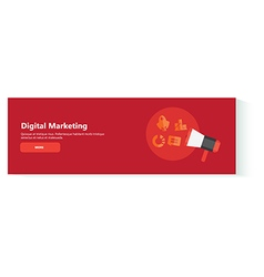 banner digital marketing vector image vector image