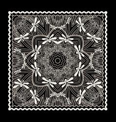 Black bandana print vector