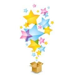 Box and stars vector image