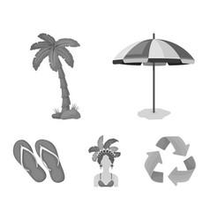 Brazil country umbrella beach brazil country vector