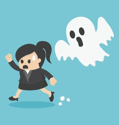 business woman Run ghost vector image vector image